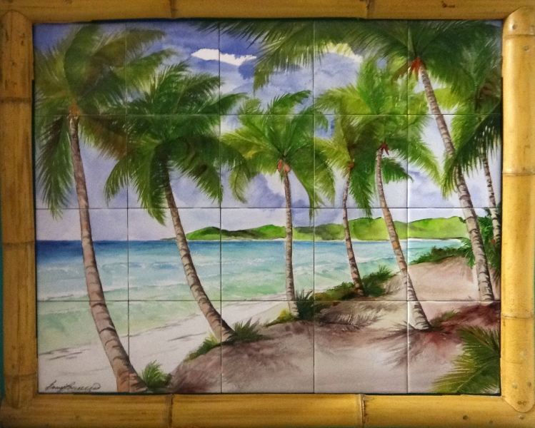 """Beach Path"" - Six Inch Tile Mural 24x30"